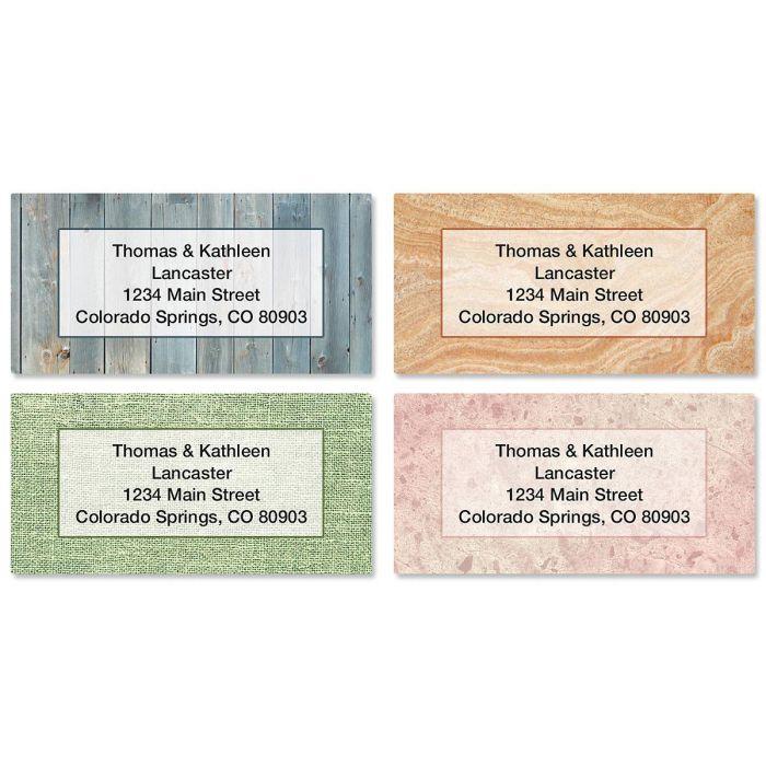 Textures Border Address Labels  (4 Designs)