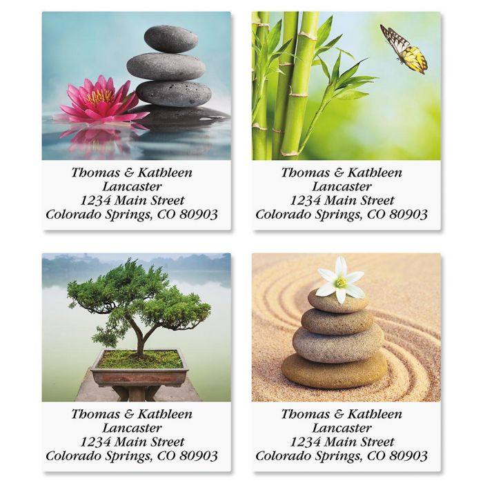 Zen Select Address Labels  (4 Designs)