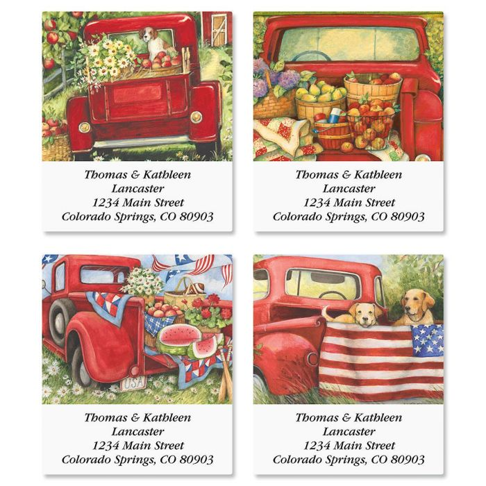 Red Truck Select Address Labels  (4 Designs)
