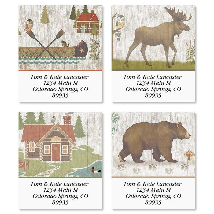 Woodland Lodge Select Address Labels  (4 Designs)
