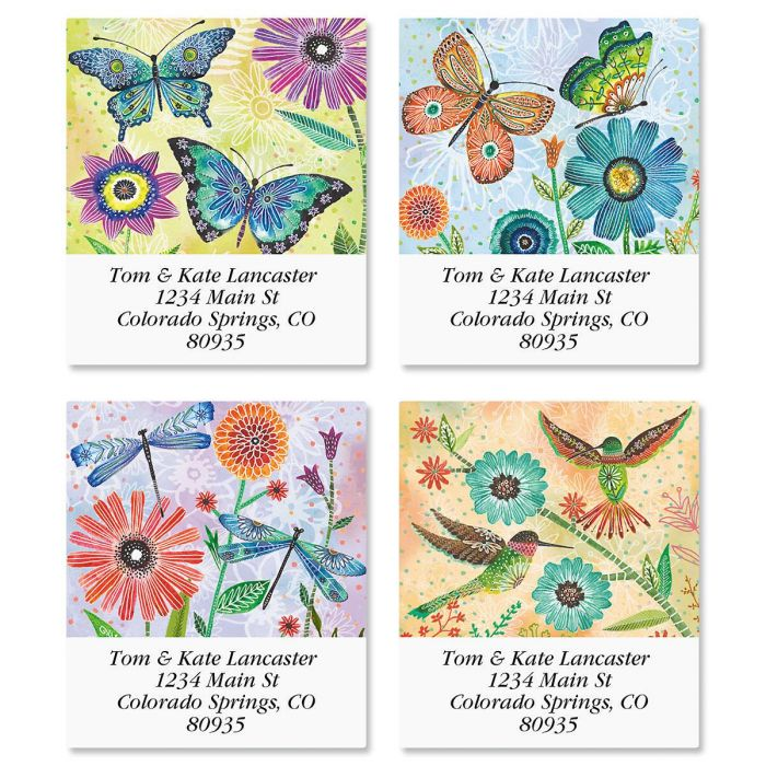 Floral Flight Select Address Labels