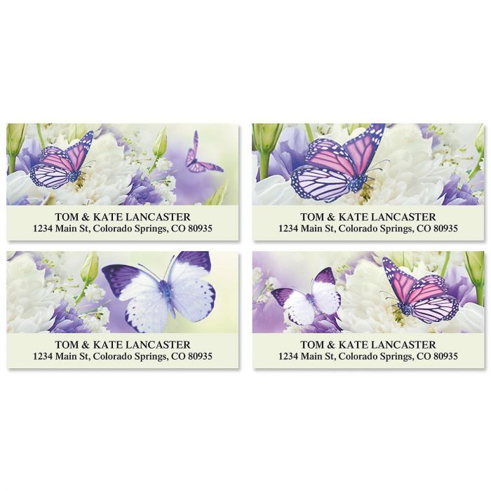 Butterfly Deluxe Address Labels  (4 Designs)