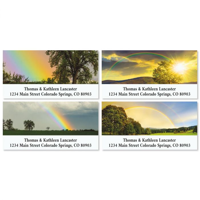 Country Rainbows Deluxe Address Labels