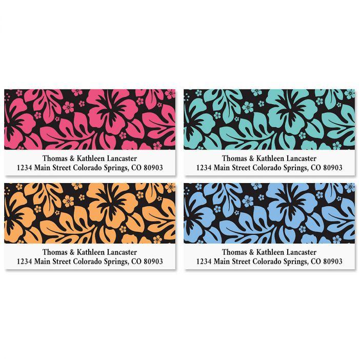 Hibiscus Deluxe Address Labels