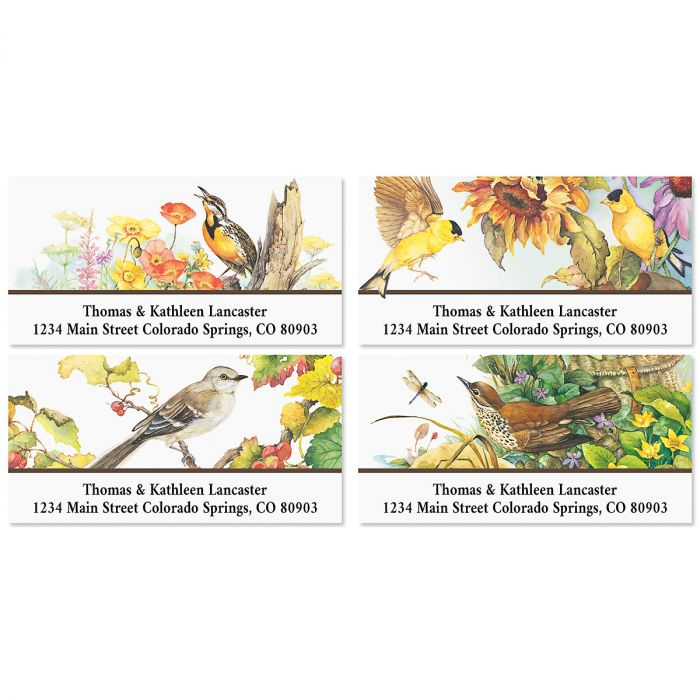 Songbirds Deluxe Address Labels