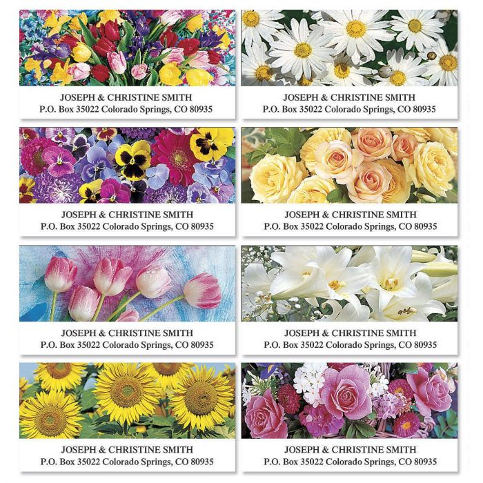 Beautiful Bouquets Deluxe Address Labels  (8 designs)