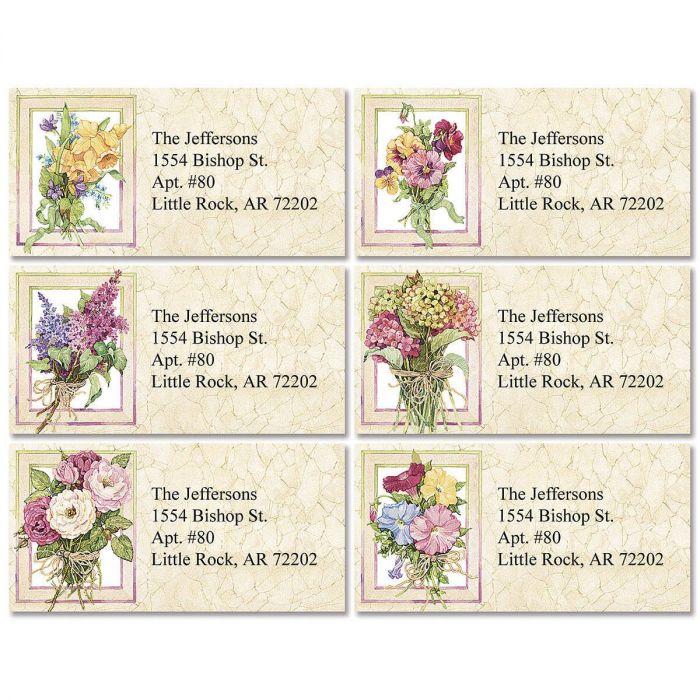 Sandi's Heirloom Bouquets Border Address Labels  (6 designs)
