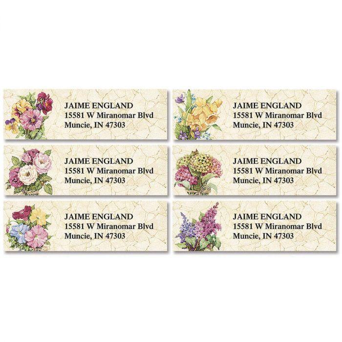 Sandi's Heirloom Bouquets Classic Address Labels  (6 designs)