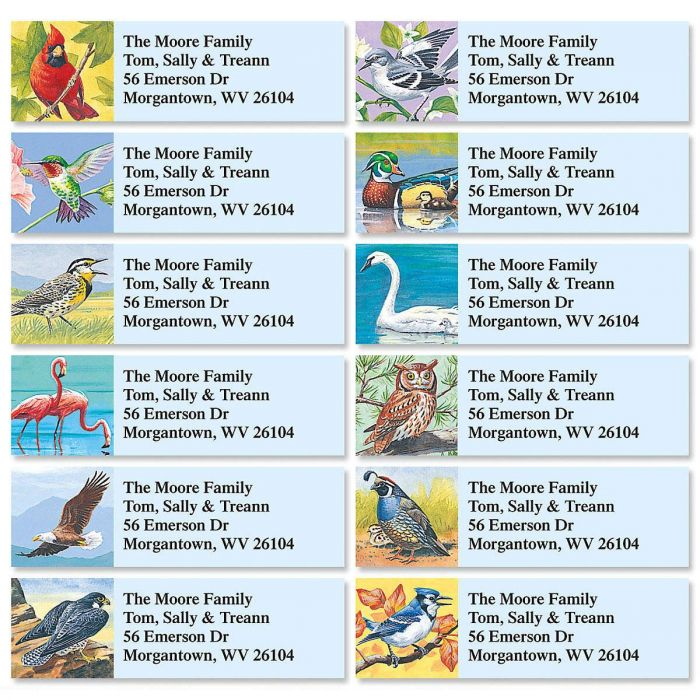 Birds Of America Classic Address Labels  (12 designs)