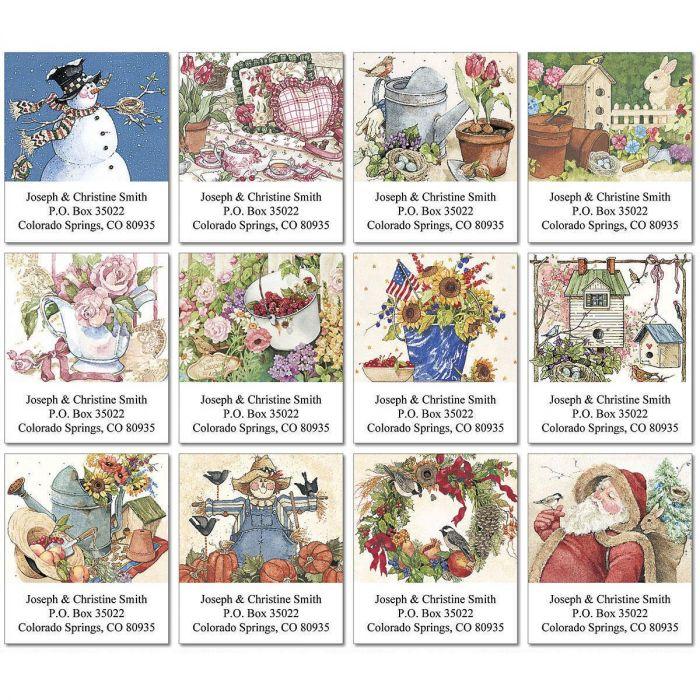 Sandi's Year Round Sampler Select Address Labels  (12 designs)