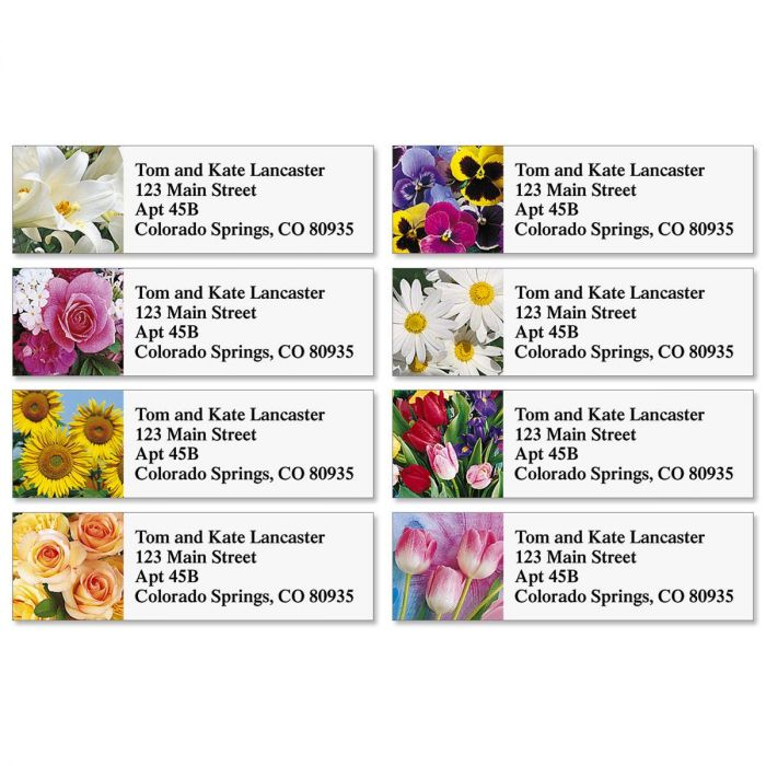 Beautiful Bouquets Classic Address Labels  (8 designs)