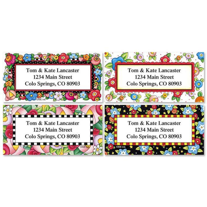 Mary Engelbreit® Bright Blossoms Border Address Labels  (4 designs)