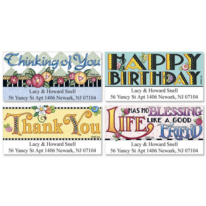 Mary Engelbreit® Best Wishes Deluxe Address Labels  (4 designs)