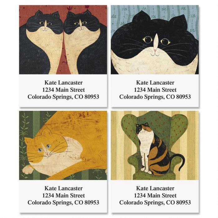 Warren Kimble's Cozy Cats Select Address Labels  (4 Designs)