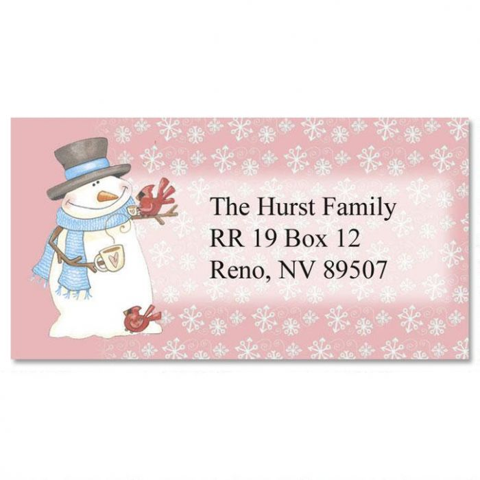 Patterns of the Season Border Address Labels  (12 Designs)