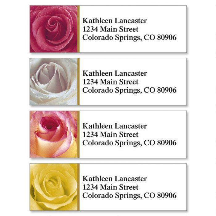 Fresh Roses Classic Address Labels  (4 designs)