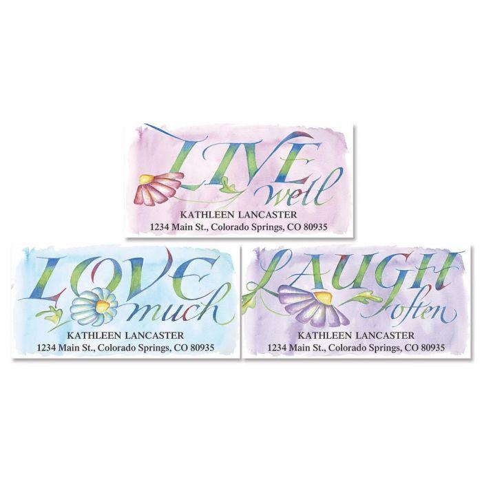 Live, Love, Laugh Address Labels  (3 designs)
