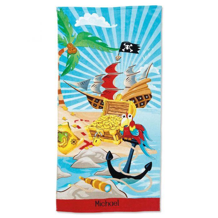 Pirate Personalized Beach Towel