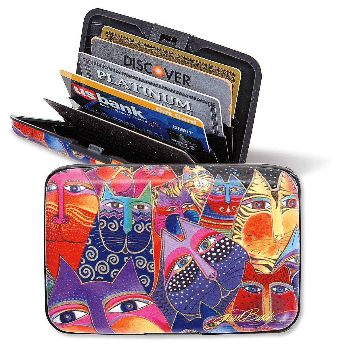 Laurel Burch Cats RFID-Safe Armored Wallet