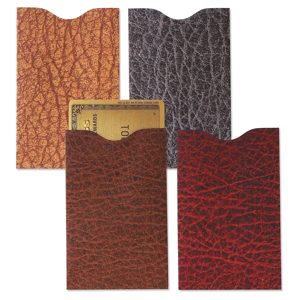 RFID Leather Look Credit Card Sleeves