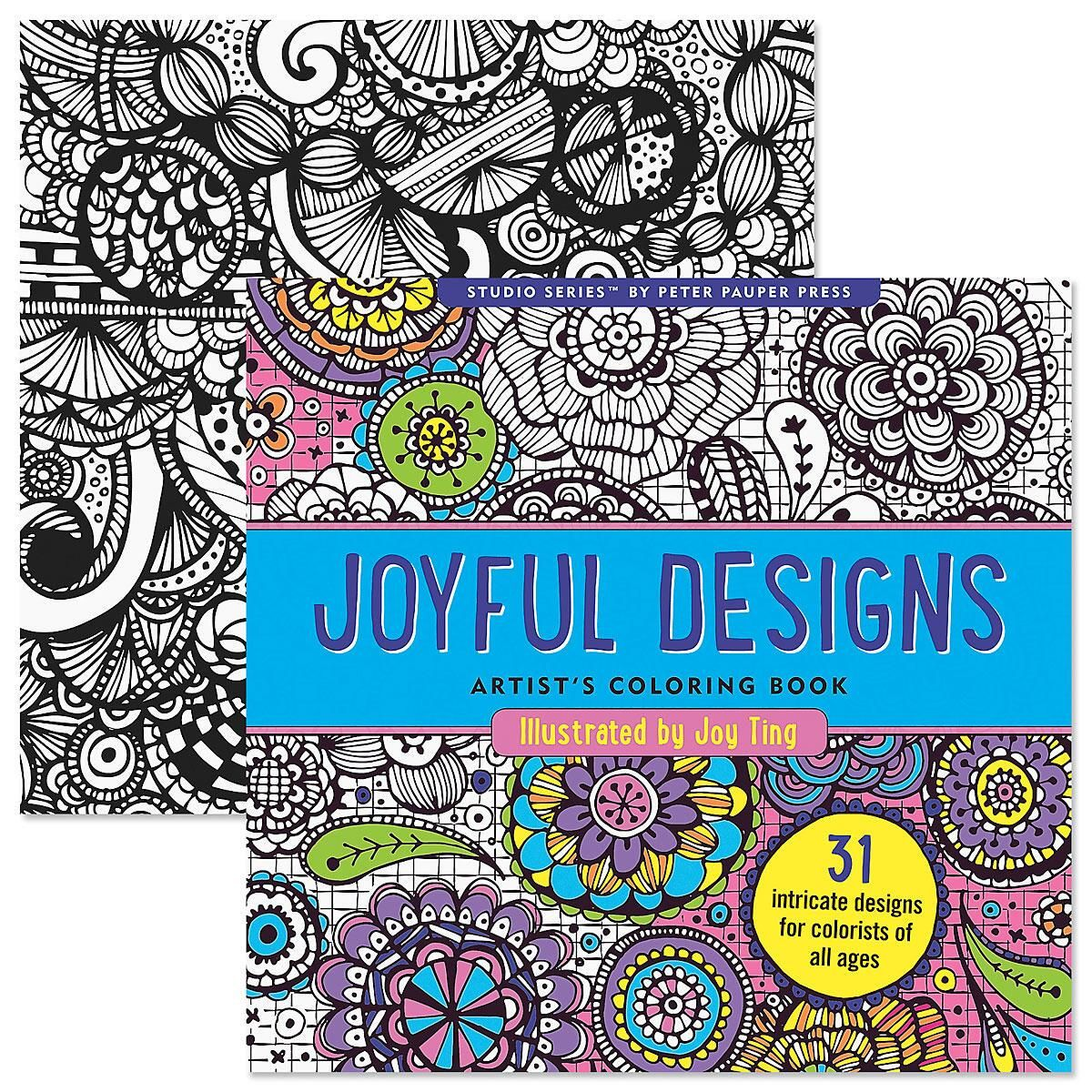 Joyful Designs Coloring Book for Adults