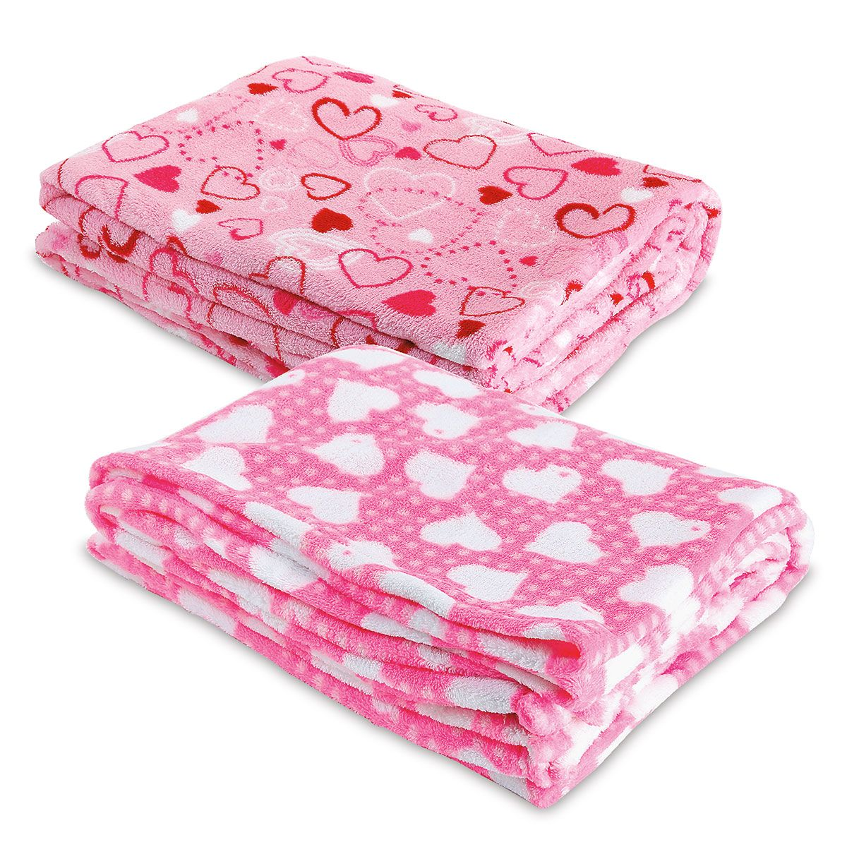 Heart Fleece Throw