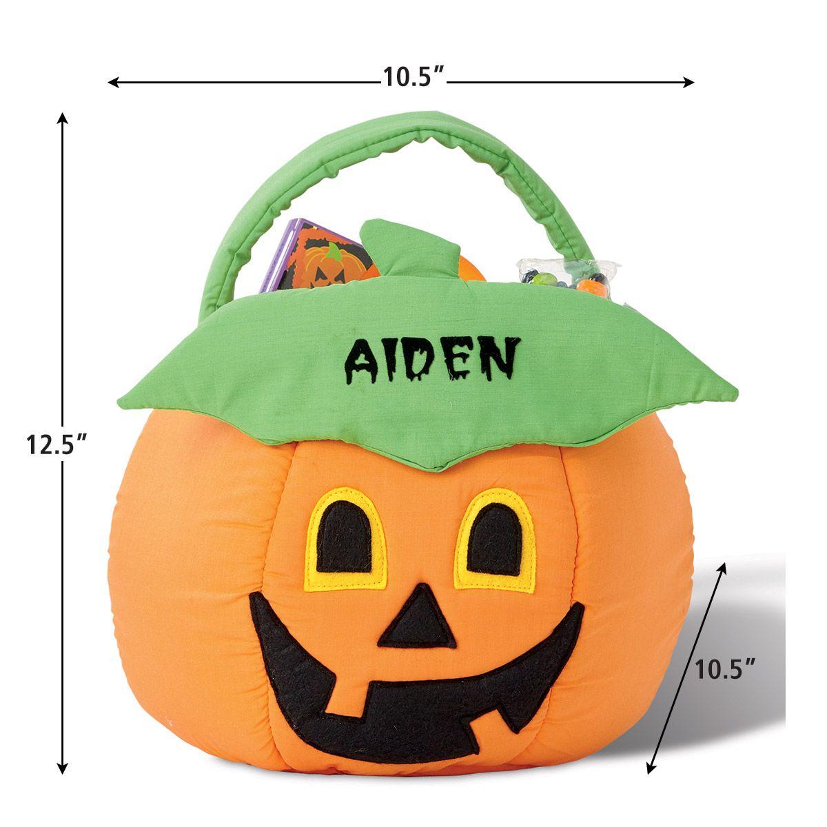 Personalized Halloween Jack-o'-Lantern Treat Basket