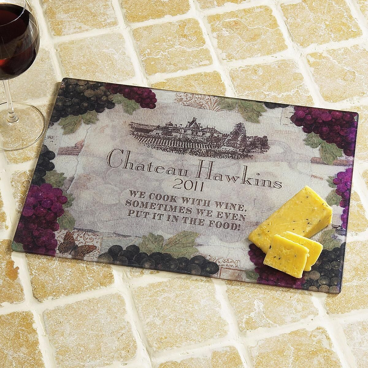 Vineyard Glass Cutting Board Large