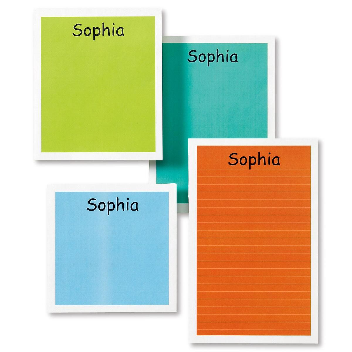 Personalized Mulitcolored Notepad Set