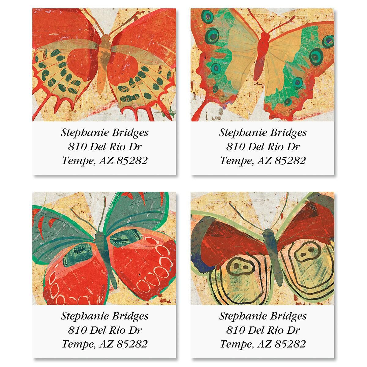 Butterfly Select Address Labels  (4 designs)