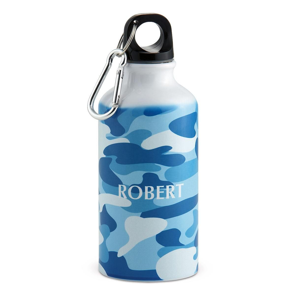Blue Camo  Water Bottle