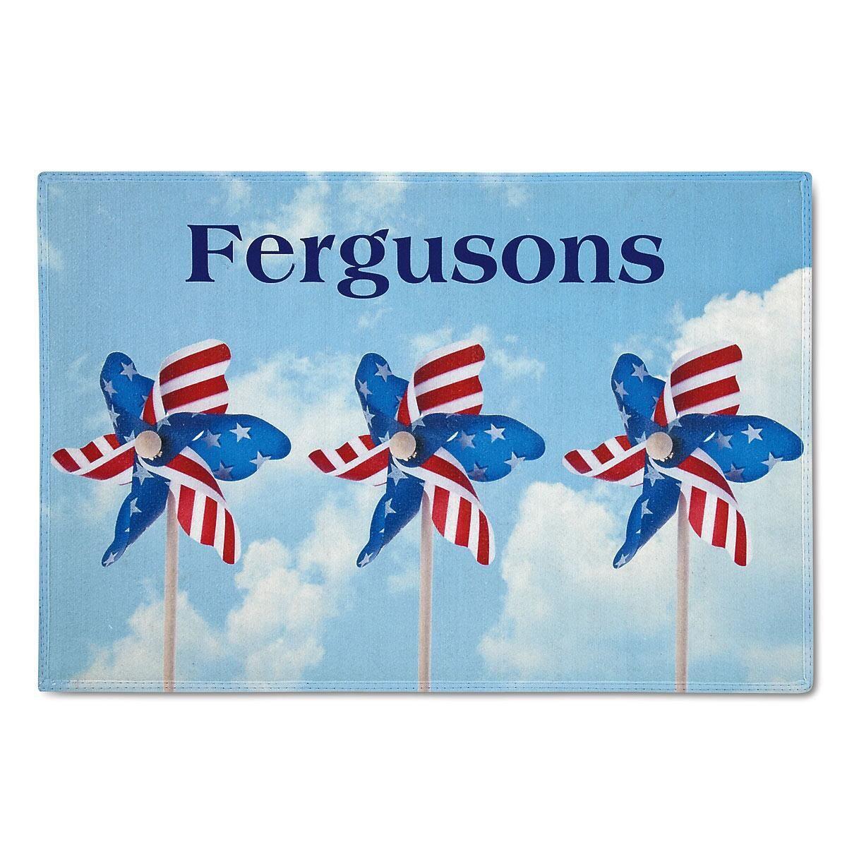 Americana Personalized Welcome Doormat