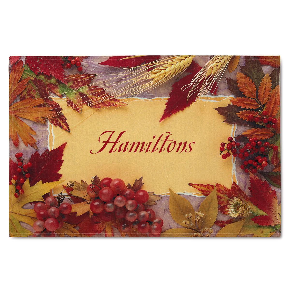 Thanksgiving Personalized Welcome Doormat