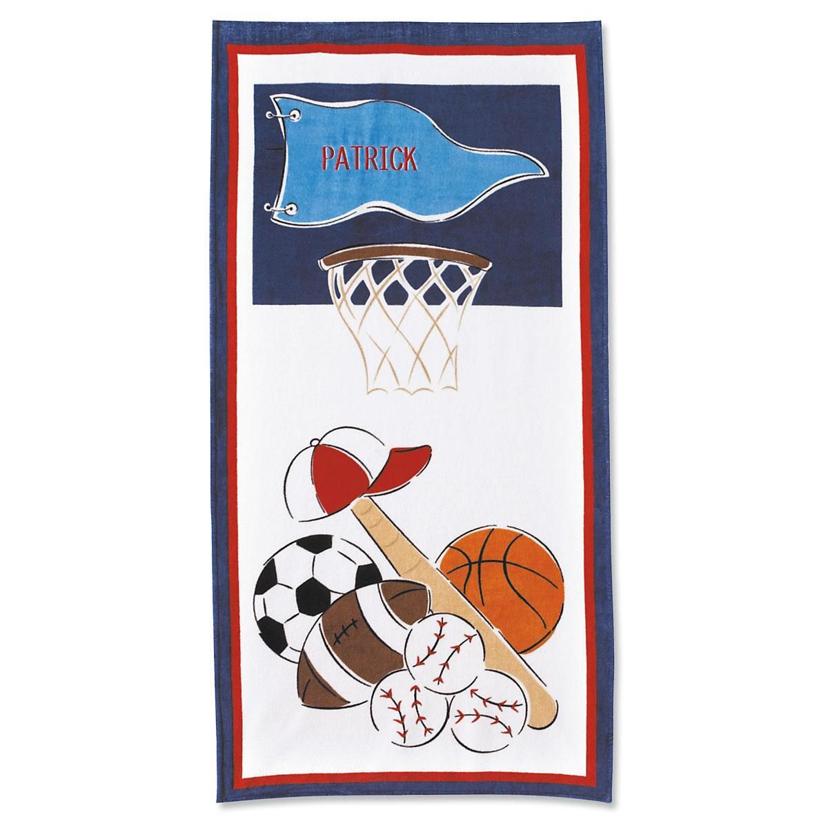 Sports Personalized Beach Towel