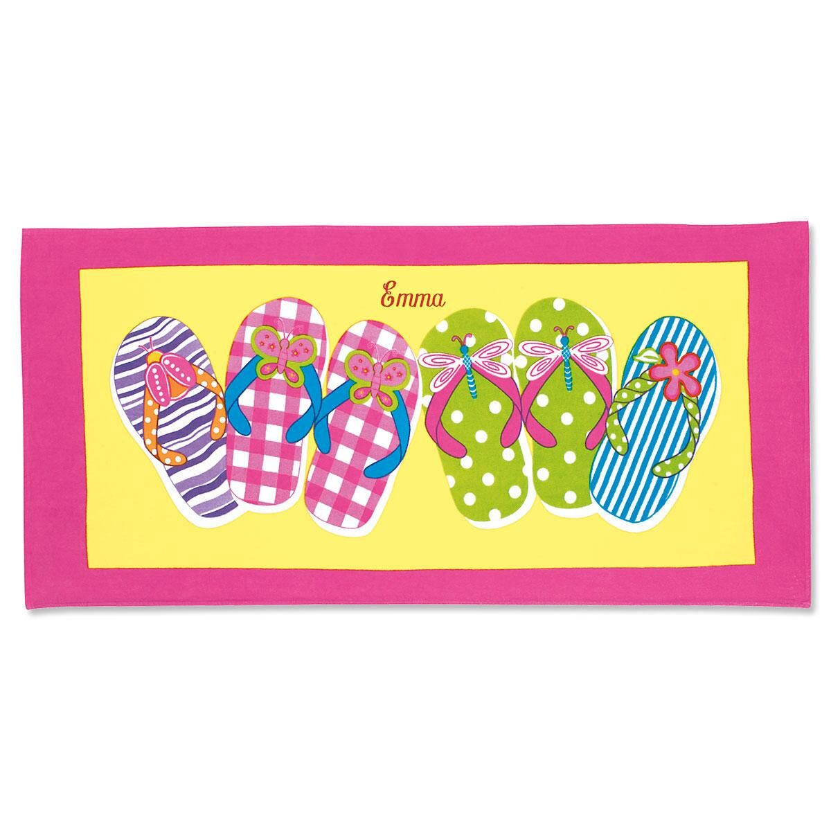 Flip-Flops Personalized Beach Towel
