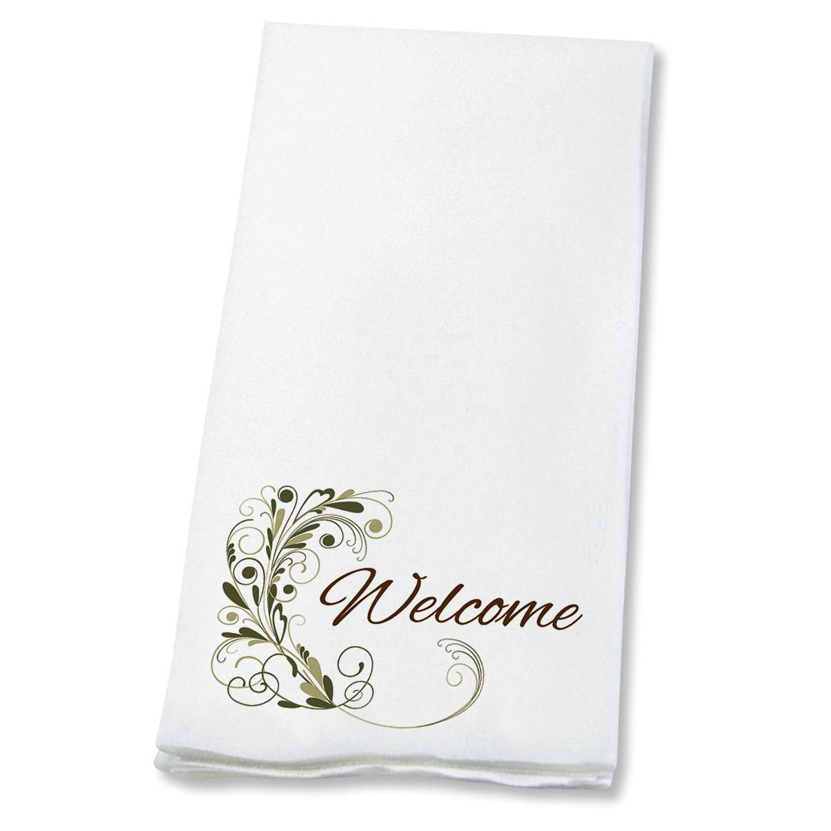 Welcome Flourish   Disposable Hand Towels