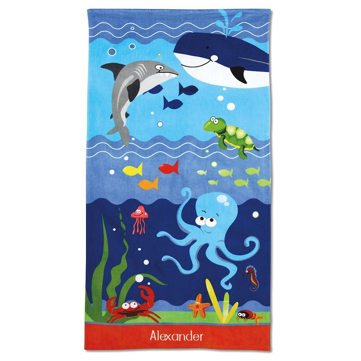 Personalized Under the Sea Beach Towel