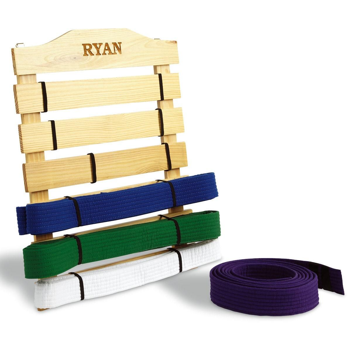 Martial Arts Personalized Wooden Belt Display Rack