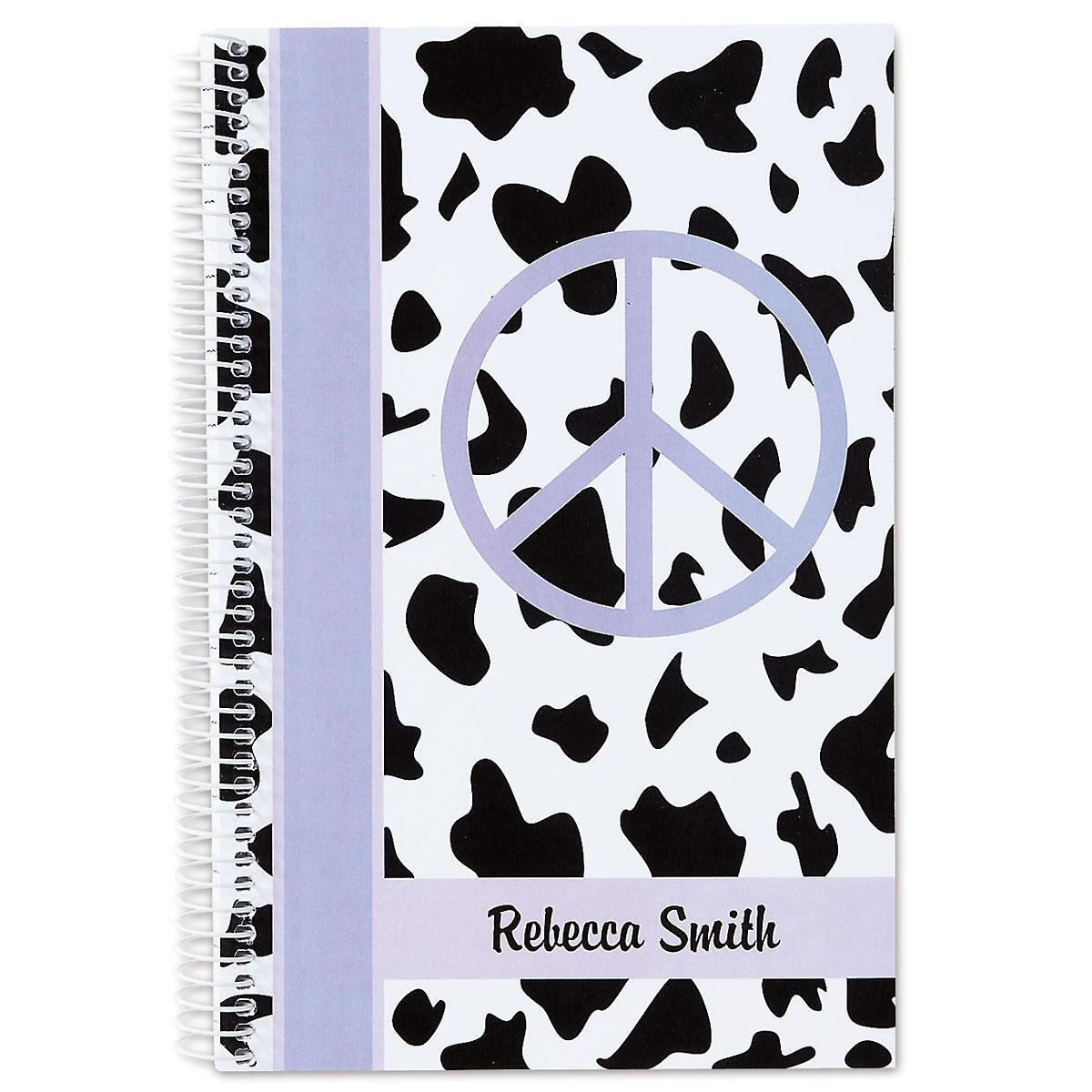 Lavender Spots Peace Notebook