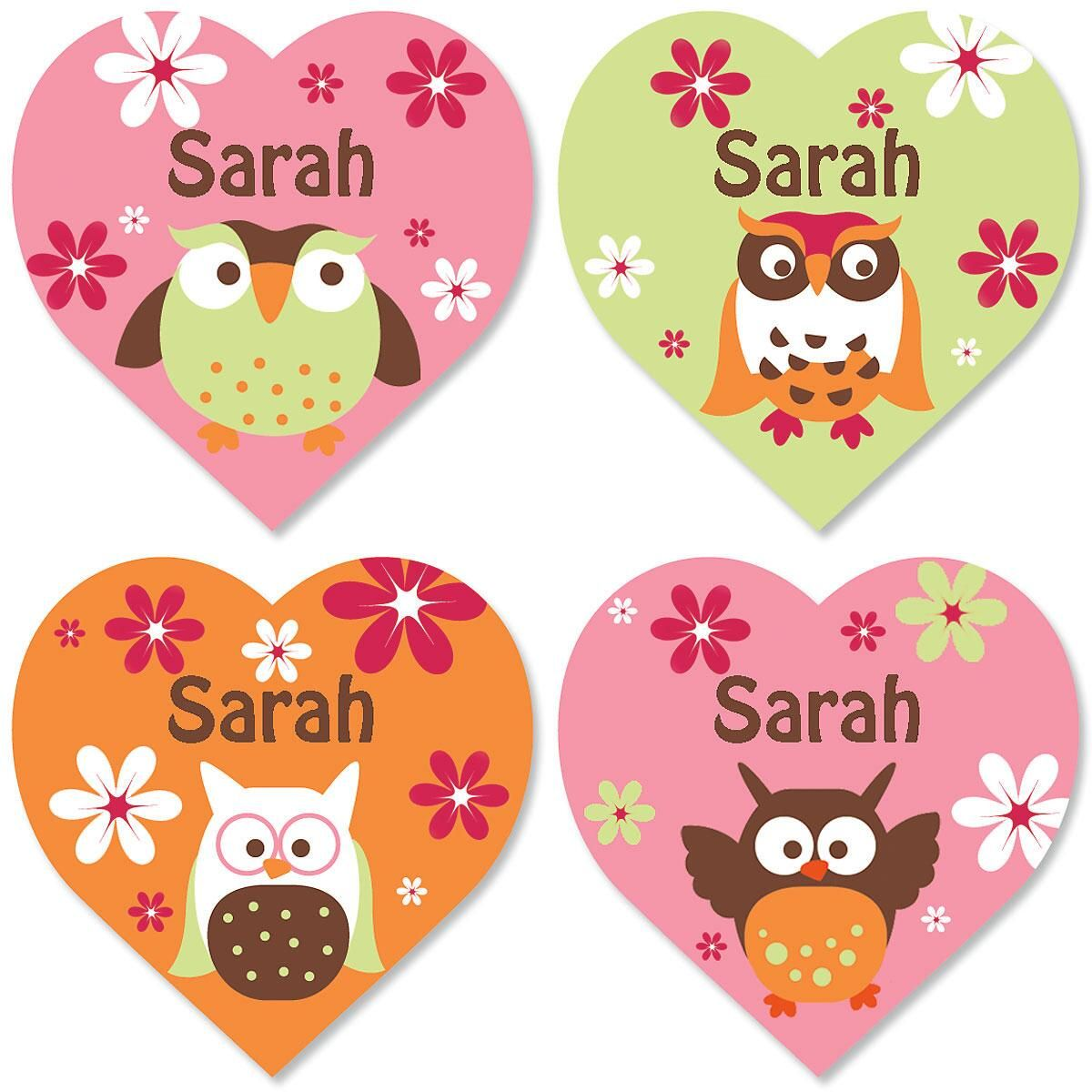 Owl Heart Stickers