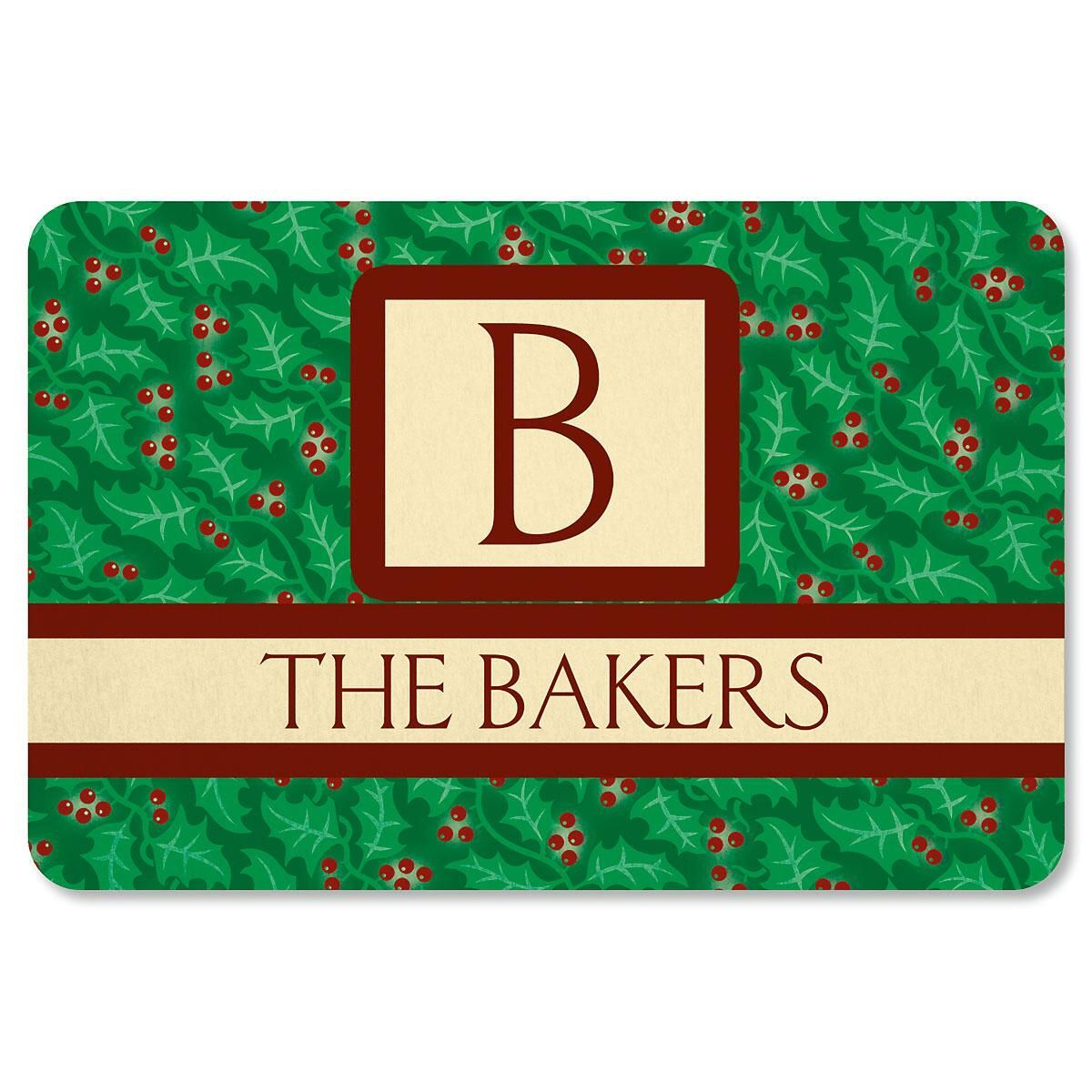 Holly Monogram Doormat