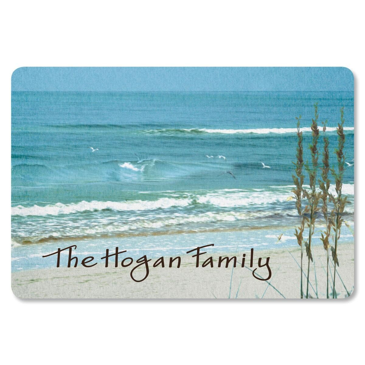 Seashore Personalized Doormat