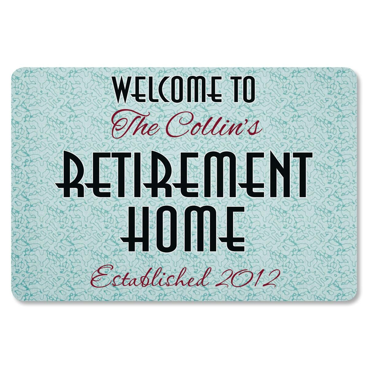 Retirement Home Personalized Welcome Doormat