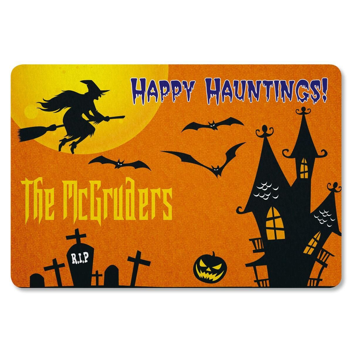 Scary House Personalized Welcome Doormat