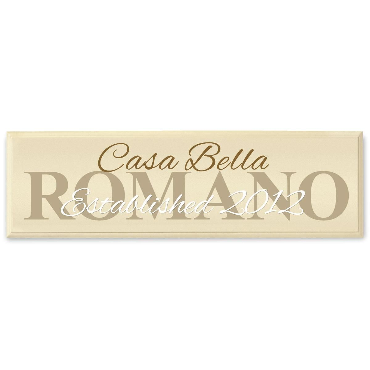 Casa Bella Wooden Plaque