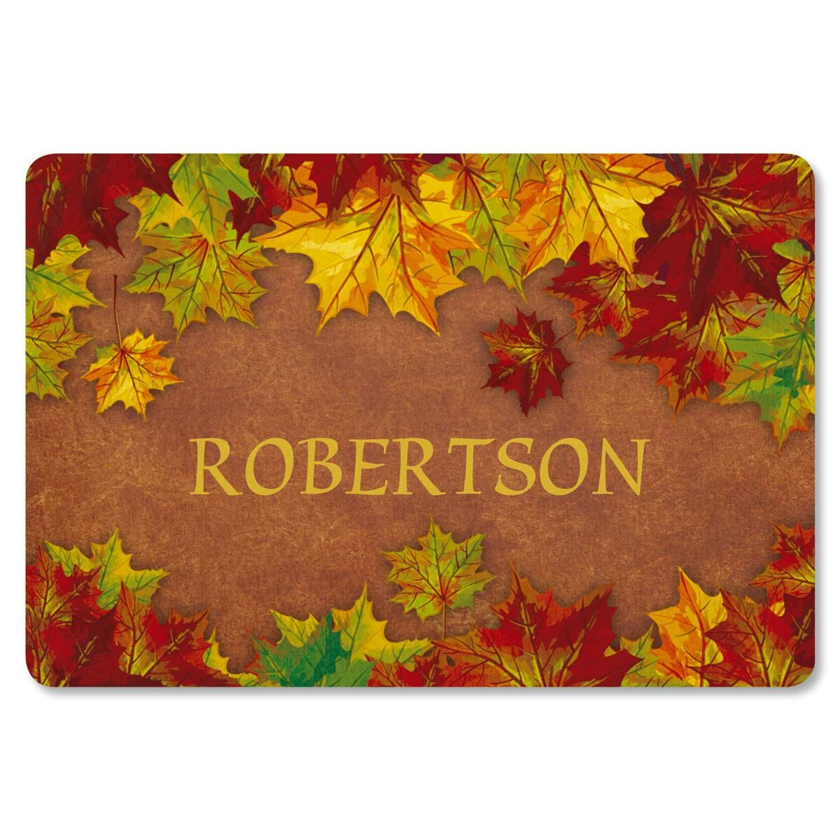 Autumn Color Personalized Welcome Doormat