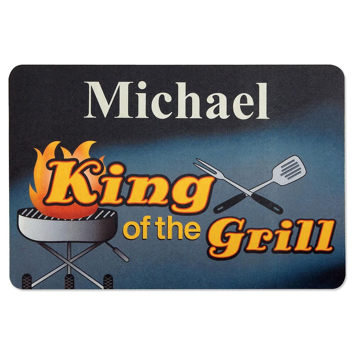 Grilling Personalized Doormat