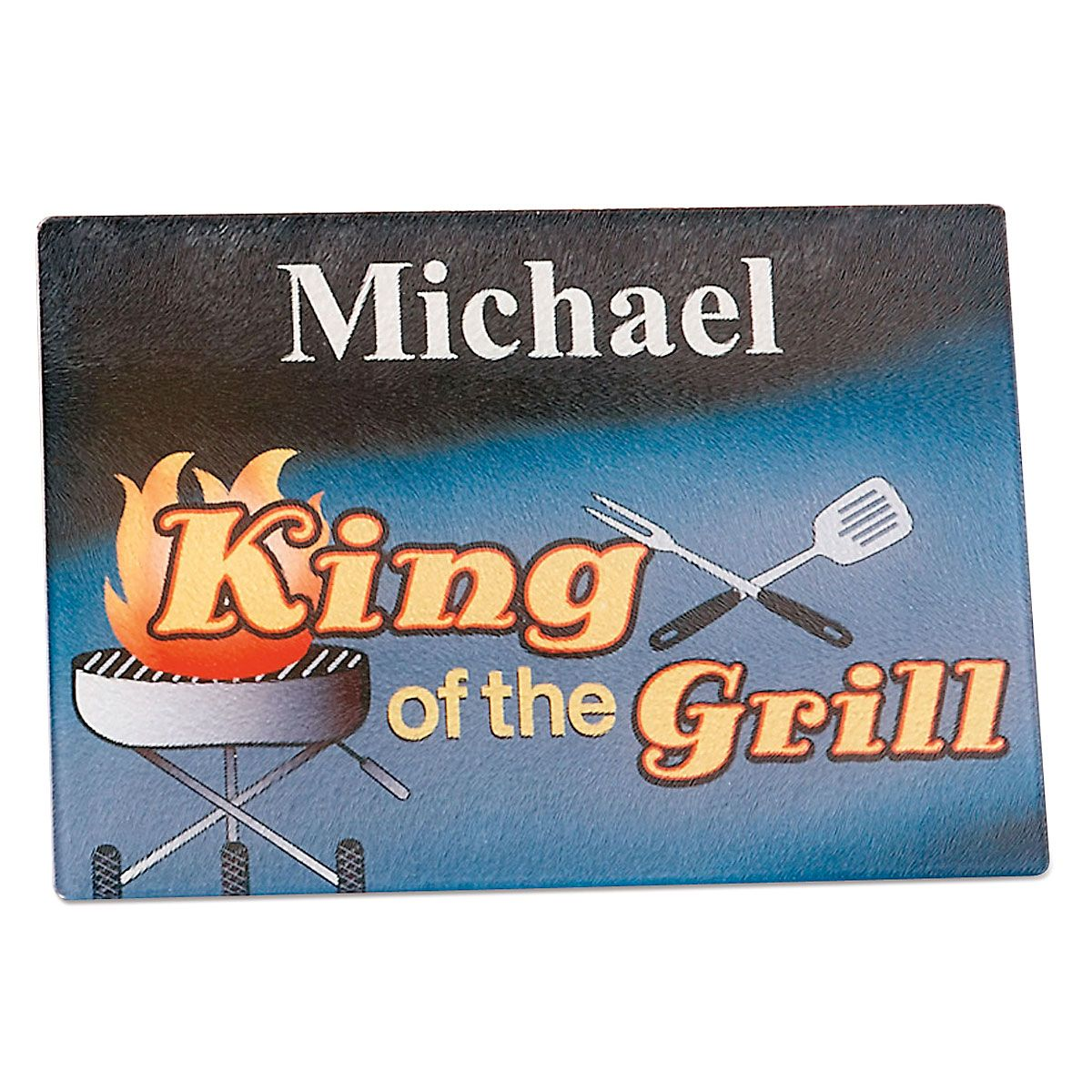 King of the Grill Tempered Glass Cutting Board