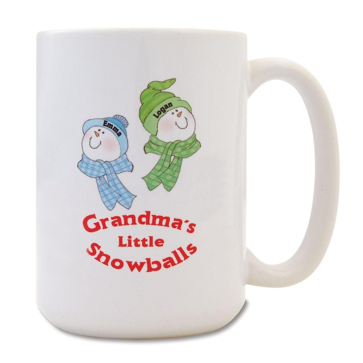 Grandma's Little Snowballs Personalized Mug