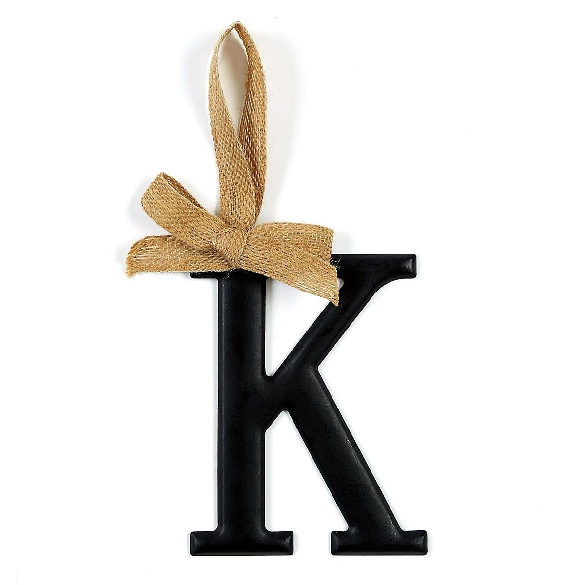Decorative Painted Tin Initials - K